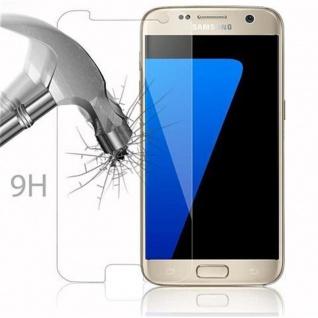 Cadorabo Panzer Folie für Samsung Galaxy S7 - Schutzfolie in KRISTALL KLAR - Gehärtetes (Tempered) Display-Schutzglas in 9H Härte mit 3D Touch Kompatibilität - Vorschau 3