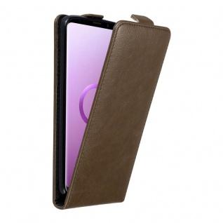 Cadorabo Hülle für Samsung Galaxy S9 PLUS in KAFFEE BRAUN - Handyhülle im Flip Design mit unsichtbarem Magnetverschluss - Case Cover Schutzhülle Etui Tasche Book Klapp Style