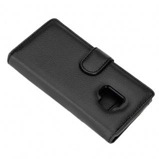 Cadorabo Hülle für Samsung Galaxy S9 in OXID SCHWARZ ? Handyhülle mit Magnetverschluss und 3 Kartenfächern ? Case Cover Schutzhülle Etui Tasche Book Klapp Style - Vorschau 5
