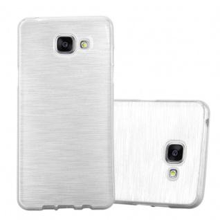 Cadorabo Hülle für Samsung Galaxy A5 2016 in SILBER - Handyhülle aus flexiblem TPU Silikon - Silikonhülle Schutzhülle Ultra Slim Soft Back Cover Case Bumper