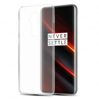 Cadorabo Hülle für OnePlus 7T PRO in VOLL TRANSPARENT - Handyhülle aus flexiblem TPU Silikon - Silikonhülle Schutzhülle Ultra Slim Soft Back Cover Case Bumper