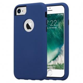 Cadorabo Hülle für Apple iPhone 7 / 7S / 8 / SE 2020 / iPhone 8 in DUNKEL BLAU Hybrid Handyhülle mit TPU Silikon Innenseite und 2teiliger Kunststoff Außenseite Schutzhülle Hybrid Hardcase Back Case