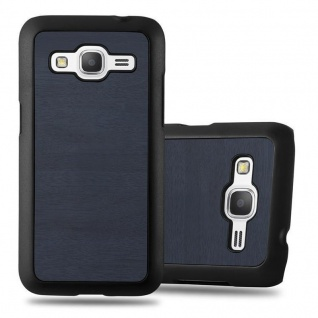Cadorabo Hülle für Samsung Galaxy CORE PRIME in WOODEN BLAU ? Handyhülle aus flexiblem TPU Silikon ? Silikonhülle Schutzhülle Ultra Slim Soft Back Cover Case Bumper