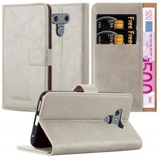 Cadorabo Hülle für LG G6 in CAPPUCINO BRAUN - Handyhülle mit Magnetverschluss, Standfunktion und Kartenfach - Case Cover Schutzhülle Etui Tasche Book Klapp Style