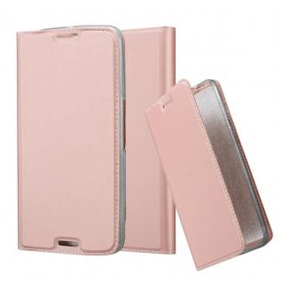 Cadorabo Hülle für Motorola NEXUS 6 in CLASSY ROSÉ GOLD - Handyhülle mit Magnetverschluss, Standfunktion und Kartenfach - Case Cover Schutzhülle Etui Tasche Book Klapp Style