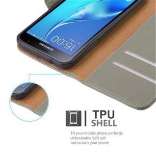 Cadorabo Hülle für Samsung Galaxy J3 2016 in CAPPUCCINO BRAUN ? Handyhülle mit Magnetverschluss, Standfunktion und Kartenfach ? Case Cover Schutzhülle Etui Tasche Book Klapp Style - Vorschau 3