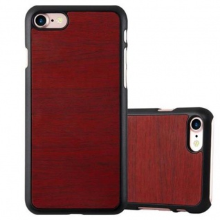Cadorabo Hülle für Apple iPhone 7 / iPhone 7S / iPhone 8 in WOODY ROT - Hardcase Handyhülle aus Plastik gegen Kratzer und Stöße - Schutzhülle Bumper Ultra Slim Back Case Hard Cover