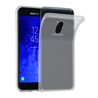 Cadorabo Hülle für Samsung Galaxy J3 2018 in VOLL TRANSPARENT Handyhülle aus flexiblem TPU Silikon Silikonhülle Schutzhülle Ultra Slim Soft Back Cover Case Bumper
