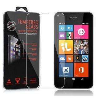 Cadorabo Panzer Folie für Nokia Lumia 535 Schutzfolie in KRISTALL KLAR Gehärtetes (Tempered) Display-Schutzglas in 9H Härte mit 3D Touch Kompatibilität