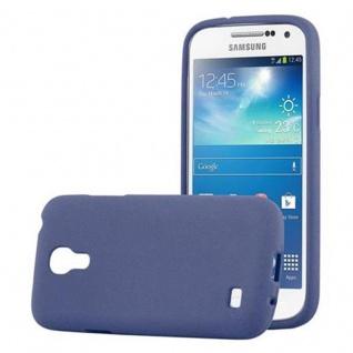 Cadorabo Hülle für Samsung Galaxy S4 MINI in FROST DUNKEL BLAU - Handyhülle aus flexiblem TPU Silikon - Silikonhülle Schutzhülle Ultra Slim Soft Back Cover Case Bumper