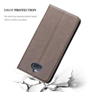 Cadorabo Hülle für Sony Xperia 10 PLUS in KAFFEE BRAUN - Handyhülle mit Magnetverschluss, Standfunktion und Kartenfach - Case Cover Schutzhülle Etui Tasche Book Klapp Style - Vorschau 5