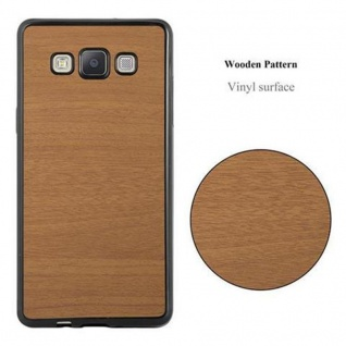 Cadorabo Hülle für Samsung Galaxy A3 2015 in WOODEN BRAUN - Handyhülle aus flexiblem TPU Silikon - Silikonhülle Schutzhülle Ultra Slim Soft Back Cover Case Bumper - Vorschau 2