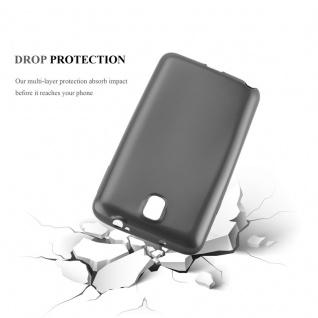Cadorabo Hülle für Samsung Galaxy NOTE 3 in METALLIC GRAU - Handyhülle aus flexiblem TPU Silikon - Silikonhülle Schutzhülle Ultra Slim Soft Back Cover Case Bumper - Vorschau 3