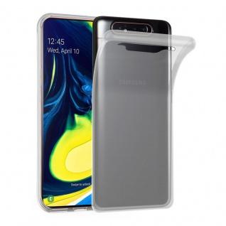 Cadorabo Hülle für Samsung Galaxy A80 / A90 in VOLL TRANSPARENT - Handyhülle aus flexiblem TPU Silikon - Silikonhülle Schutzhülle Ultra Slim Soft Back Cover Case Bumper