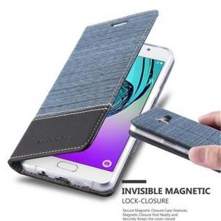 Cadorabo Hülle für Samsung Galaxy A3 2016 in DUNKEL BLAU SCHWARZ - Handyhülle mit Magnetverschluss, Standfunktion und Kartenfach - Case Cover Schutzhülle Etui Tasche Book Klapp Style
