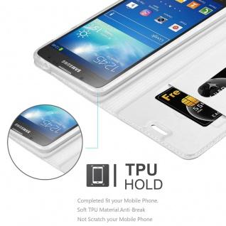 Cadorabo Hülle für Samsung Galaxy S4 Active in CLASSY SILBER - Handyhülle mit Magnetverschluss, Standfunktion und Kartenfach - Case Cover Schutzhülle Etui Tasche Book Klapp Style - Vorschau 4