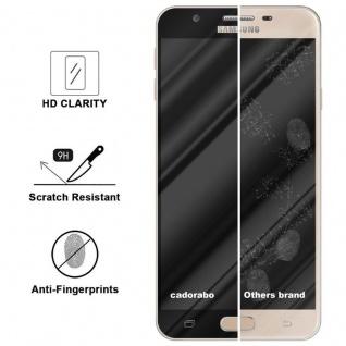 Cadorabo Vollbild Panzer Folie für Samsung Galaxy J7 PRIME / ON7 2016 - Schutzfolie in TRANSPARENT mit SCHWARZ - Gehärtetes (Tempered) Display-Schutzglas in 9H Härte mit 3D Touch Kompatibilität - Vorschau 3