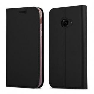 Cadorabo Hülle für Samsung Galaxy XCOVER 4 in CLASSY SCHWARZ - Handyhülle mit Magnetverschluss, Standfunktion und Kartenfach - Case Cover Schutzhülle Etui Tasche Book Klapp Style