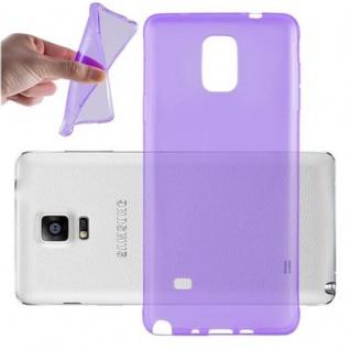 Cadorabo Hülle für Samsung Galaxy NOTE 4 in TRANSPARENT LILA - Handyhülle aus flexiblem TPU Silikon - Silikonhülle Schutzhülle Ultra Slim Soft Back Cover Case Bumper