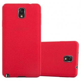 Cadorabo Hülle für Samsung Galaxy NOTE 3 in FROSTY ROT - Hardcase Handyhülle aus Plastik gegen Kratzer und Stöße - Schutzhülle Bumper Ultra Slim Back Case Hard Cover