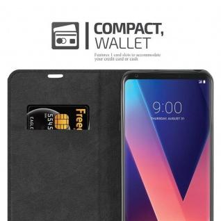 Cadorabo Hülle für LG V30 in APFEL ROT Handyhülle mit Magnetverschluss, Standfunktion und Kartenfach Case Cover Schutzhülle Etui Tasche Book Klapp Style - Vorschau 5