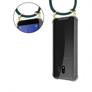 Cadorabo Handy Kette für Samsung Galaxy J4 2018 in ARMEE GRÜN - Silikon Necklace Umhänge Hülle mit Gold Ringen, Kordel Band Schnur und abnehmbarem Etui ? Schutzhülle - Vorschau 5