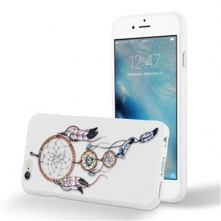 Cadorabo Hülle für Apple iPhone 6 / iPhone 6S - Hülle im Design TRAUMFÄNGER ? Handyhülle aus TPU Silikon mit Aufdruck - Silikonhülle Schutzhülle Ultra Slim Soft Back Cover Case Bumper