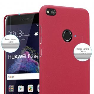 Cadorabo Hülle für Huawei P8 LITE 2017 in FROSTY ROT - Hardcase Handyhülle aus Plastik gegen Kratzer und Stöße - Schutzhülle Bumper Ultra Slim Back Case Hard Cover - Vorschau 4