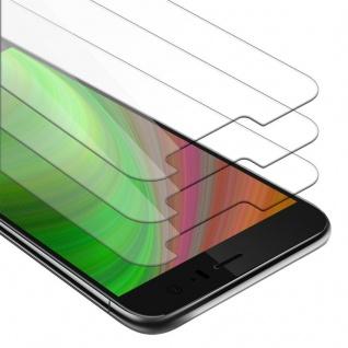 Cadorabo 3x Panzer Folie für HTC U11 - Schutzfolie in KRISTALL KLAR - 3er Pack Gehärtetes (Tempered) Display-Schutzglas in 9H Härte mit 3D Touch Kompatibilität