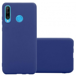 Cadorabo Hülle für Huawei P30 LITE in CANDY DUNKEL BLAU - Handyhülle aus flexiblem TPU Silikon - Silikonhülle Schutzhülle Ultra Slim Soft Back Cover Case Bumper