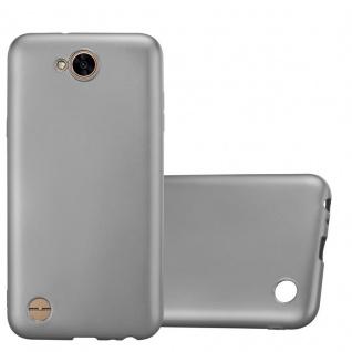 Cadorabo Hülle für LG X Power 2 in METALLIC GRAU - Handyhülle aus flexiblem TPU Silikon - Silikonhülle Schutzhülle Ultra Slim Soft Back Cover Case Bumper