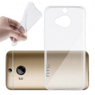 Cadorabo Hülle für HTC ONE M9 PLUS (3.Gen.) - Hülle in VOLL TRANSPARENT ? Handyhülle aus TPU Silikon im Ultra Slim 'AIR' Design - Ultra Slim Soft Backcover Case Bumper