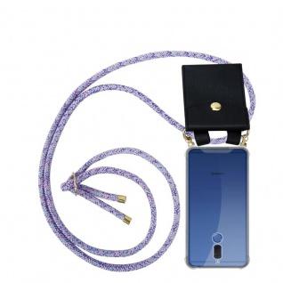 Cadorabo Handy Kette für Huawei MATE 10 LITE in UNICORN - Silikon Necklace Umhänge Hülle mit Gold Ringen, Kordel Band Schnur und abnehmbarem Etui ? Schutzhülle