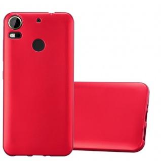 Cadorabo Hülle für HTC Desire 10 PRO in METALLIC ROT - Handyhülle aus flexiblem TPU Silikon - Silikonhülle Schutzhülle Ultra Slim Soft Back Cover Case Bumper