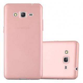 Cadorabo Hülle für Samsung Galaxy GRAND PRIME in METALL ROSE GOLD - Hardcase Handyhülle aus Plastik gegen Kratzer und Stöße - Schutzhülle Bumper Ultra Slim Back Case Hard Cover