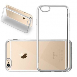 Cadorabo Hülle für Apple iPhone 6 / iPhone 6S - Hülle in TRANSPARENT mit CHROM SILBER ? Handyhülle aus TPU Silikon im Chrom Design - Silikonhülle Schutzhülle Ultra Slim Soft Back Cover Case Bumper