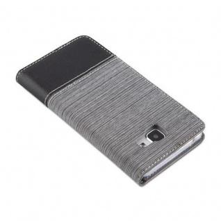 Cadorabo Hülle für Samsung Galaxy A5 2016 in GRAU SCHWARZ - Handyhülle mit Magnetverschluss, Standfunktion und Kartenfach - Case Cover Schutzhülle Etui Tasche Book Klapp Style - Vorschau 4