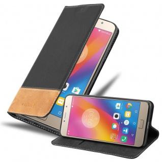 Cadorabo Hülle für Lenovo P2 in SCHWARZ BRAUN - Handyhülle mit Magnetverschluss, Standfunktion und Kartenfach - Case Cover Schutzhülle Etui Tasche Book Klapp Style