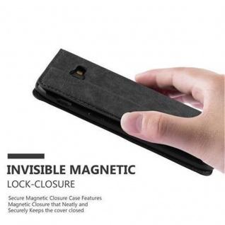 Cadorabo Hülle für Samsung Galaxy A3 2017 in NACHT SCHWARZ - Handyhülle mit Magnetverschluss, Standfunktion und Kartenfach - Case Cover Schutzhülle Etui Tasche Book Klapp Style - Vorschau 5