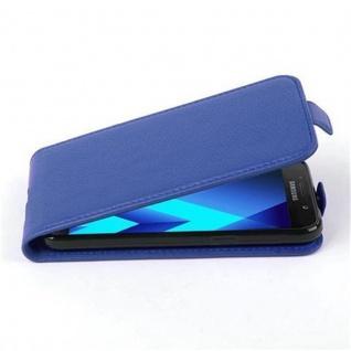 Cadorabo Hülle für Samsung Galaxy A3 2017 (7) - Hülle in KÖNIGS BLAU ? Handyhülle aus strukturiertem Kunstleder im Flip Design - Case Cover Schutzhülle Etui Tasche