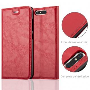 Cadorabo Hülle für ZTE BLADE V8 in APFEL ROT Handyhülle mit Magnetverschluss, Standfunktion und Kartenfach Case Cover Schutzhülle Etui Tasche Book Klapp Style - Vorschau 2
