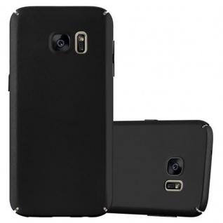 Cadorabo Hülle für Samsung Galaxy S7 in METALL SCHWARZ - Hardcase Handyhülle aus Plastik gegen Kratzer und Stöße - Schutzhülle Bumper Ultra Slim Back Case Hard Cover