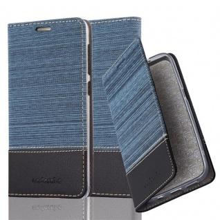Cadorabo Hülle für HTC Desire 10 LIFESTYLE / Desire 825 in DUNKEL BLAU SCHWARZ - Handyhülle mit Magnetverschluss, Standfunktion und Kartenfach - Case Cover Schutzhülle Etui Tasche Book Klapp Style