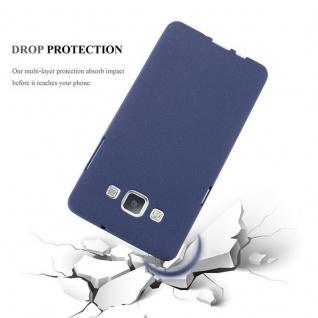 Cadorabo Hülle für Samsung Galaxy A3 2015 in FROST DUNKEL BLAU - Handyhülle aus flexiblem TPU Silikon - Silikonhülle Schutzhülle Ultra Slim Soft Back Cover Case Bumper - Vorschau 4