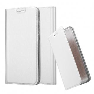 Cadorabo Hülle für HTC Desire 10 Lifestyle / Desire 825 in CLASSY SILBER - Handyhülle mit Magnetverschluss, Standfunktion und Kartenfach - Case Cover Schutzhülle Etui Tasche Book Klapp Style