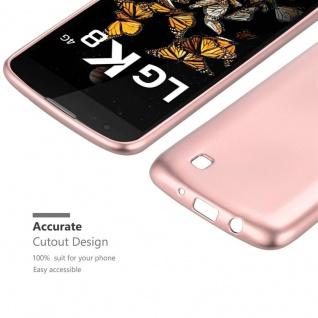 Cadorabo Hülle für LG K8 2016 in METALLIC ROSÉ GOLD - Handyhülle aus flexiblem TPU Silikon - Silikonhülle Schutzhülle Ultra Slim Soft Back Cover Case Bumper - Vorschau 5