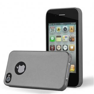 Cadorabo Hülle für Apple iPhone 4 / iPhone 4S in METALLIC GRAU - Handyhülle aus flexiblem TPU Silikon - Silikonhülle Schutzhülle Ultra Slim Soft Back Cover Case Bumper - Vorschau 1