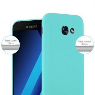 Cadorabo Hülle für Samsung Galaxy A3 2017 in CANDY BLAU - Handyhülle aus flexiblem TPU Silikon - Silikonhülle Schutzhülle Ultra Slim Soft Back Cover Case Bumper - Vorschau 2