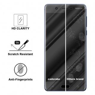 Cadorabo Panzer Folie für Nokia 5.1 2018 - Schutzfolie in KRISTALL KLAR - Gehärtetes (Tempered) Display-Schutzglas in 9H Härte mit 3D Touch Kompatibilität - Vorschau 3