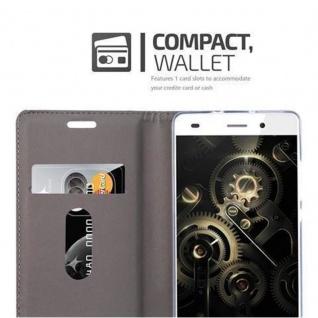 Cadorabo Hülle für Huawei P8 LITE 2015 in DUNKEL BLAU BRAUN - Handyhülle mit Magnetverschluss, Standfunktion und Kartenfach - Case Cover Schutzhülle Etui Tasche Book Klapp Style - Vorschau 3